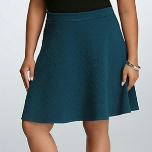 🆕 Torrid 16, Teal Textured Skater Skirt